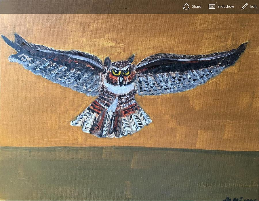 Owl Painting - Owl by Ramya Sundararajan