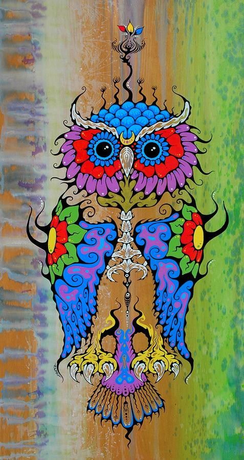 Owl Painting - Owl Spirit by John Benko