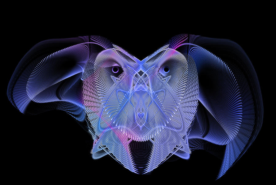 Digital Digital Art - Owleus Barneous Abstractacus by Andy Young