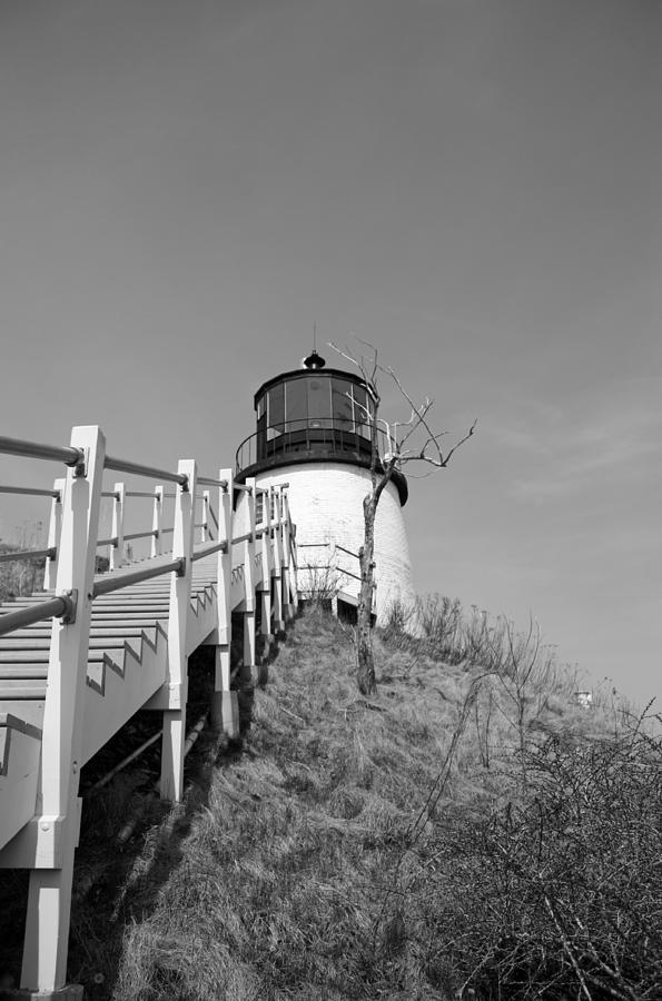 Lighthouse Photograph - Owls Head Light by Becca Brann