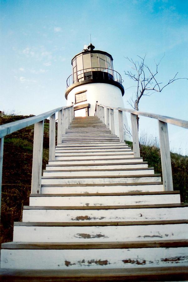 Lighthouse Photograph - Owls Head Light by Greg Fortier