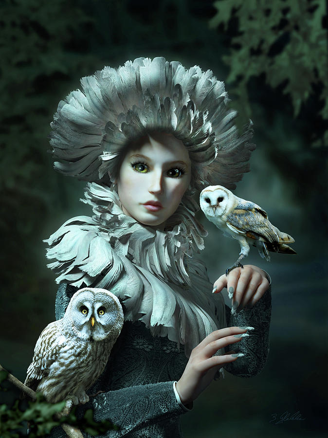 Owls Talk - Dedicated To Heather King Mixed Media