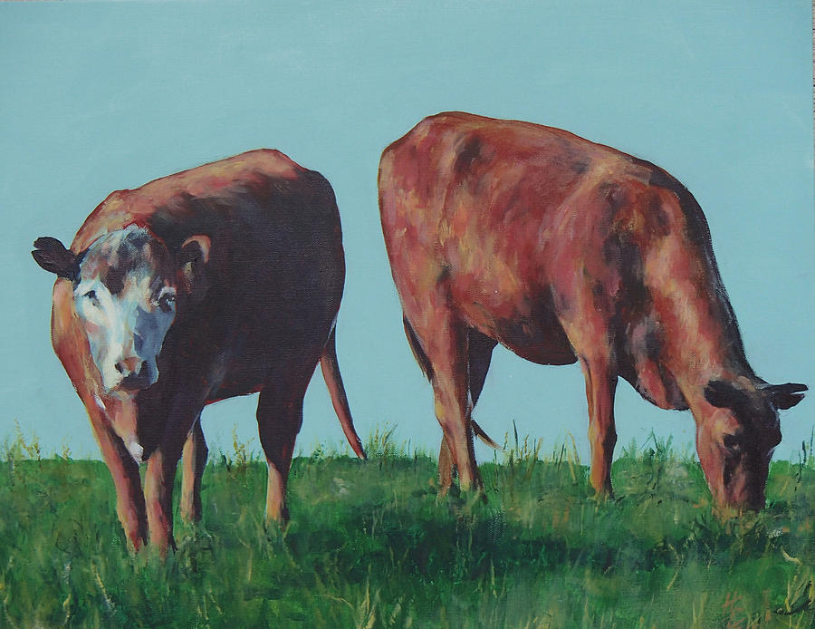 Cows Painting - Cows by Philip Fleischer