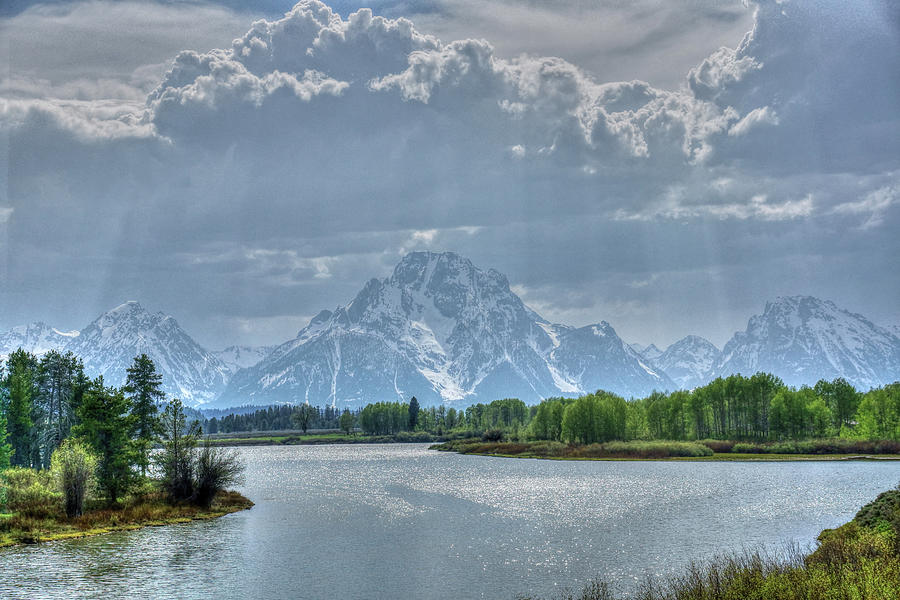 Oxbow Bend Sun Rays by David Armstrong