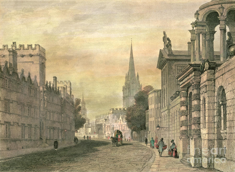 The Painting - Oxford by G Hollis