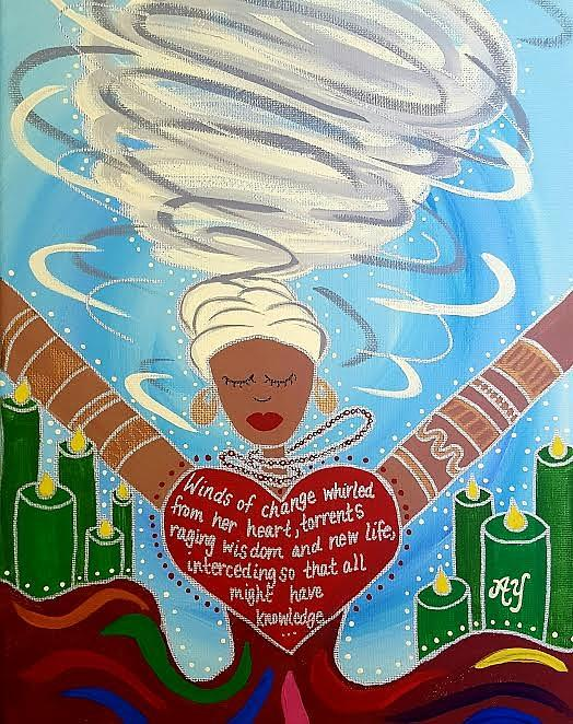 Holy Painting - Oya by Angela Yarber