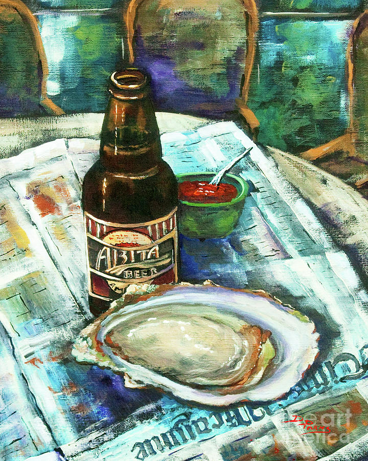 Louisiana Painting - Oyster And Amber by Dianne Parks