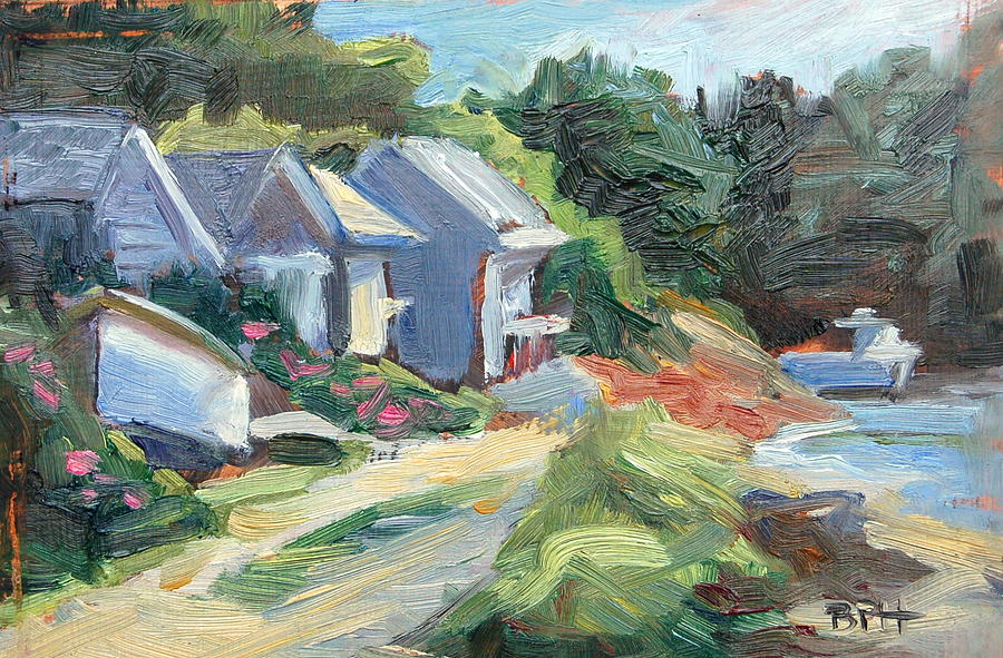 Chatham Painting - Oyster River Shacks by Barbara Hageman