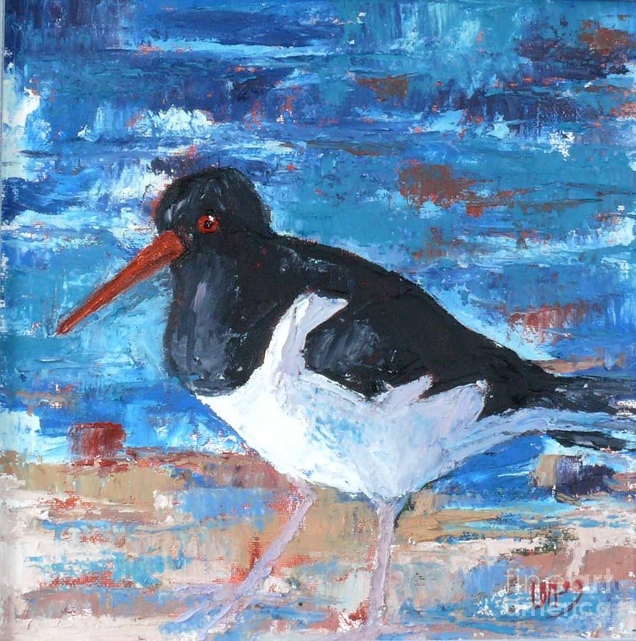 Bird Painting - oystercatcher IV by Lynn Bennett-Mackenzie