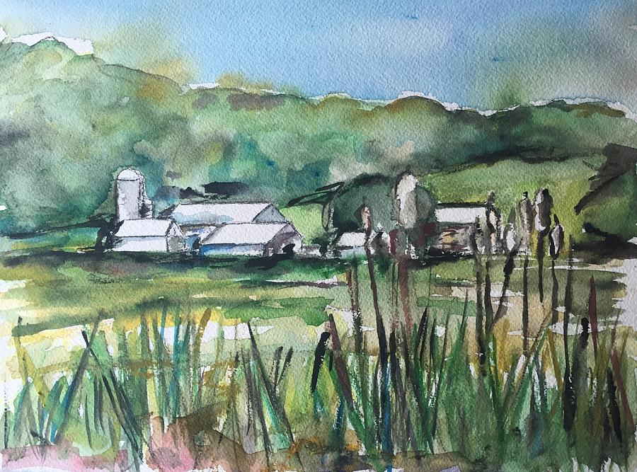 Farm Painting - Oysterdale Farm by Kathryn Armstrong