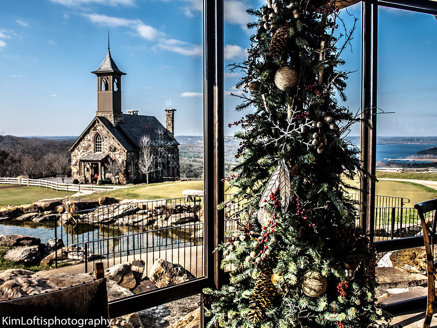 Chapel Photograph - Ozark Christmas  by Kim Loftis