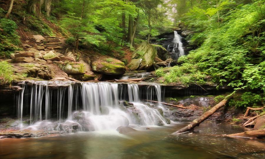 Waterfall Photograph - Ozone Falls Ricketts Glen by Lori Deiter