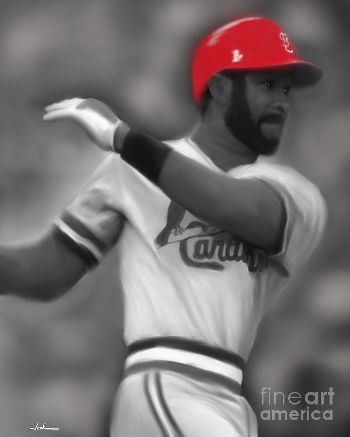 Ozzie Smith Painting - Ozzie Smith by Jack Bunds