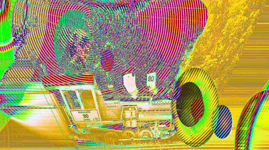 Abstract Photograph - Ozzys Crazy Train   by Jeff Swan