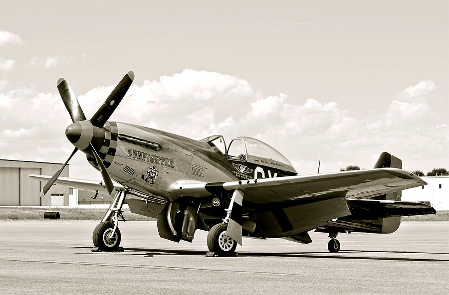 P-51 Mustang Airplane Photograph
