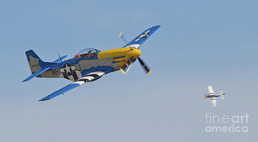 Fighter Photograph - P-51 Mustang Fighters  by Kevin McCarthy