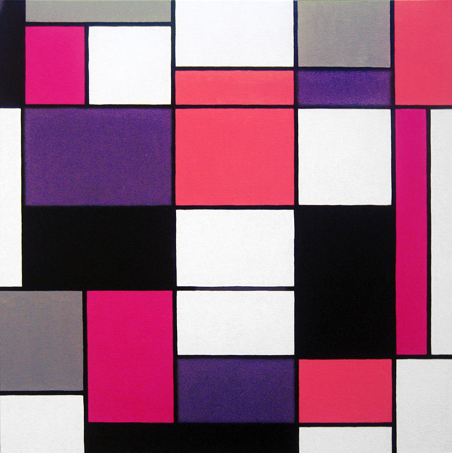 Piet Painting - P Cubed by Oliver Johnston