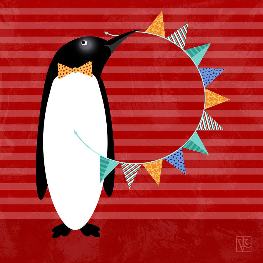 Letter P Digital Art - P Is For Penguin by Valerie Drake Lesiak
