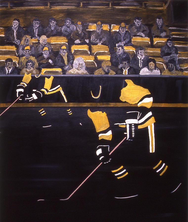 Ice Hockey Painting - P P by Ken Yackel