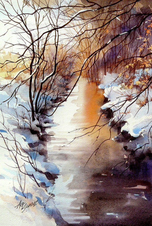 Running Hot And Cold Painting by Art Scholz