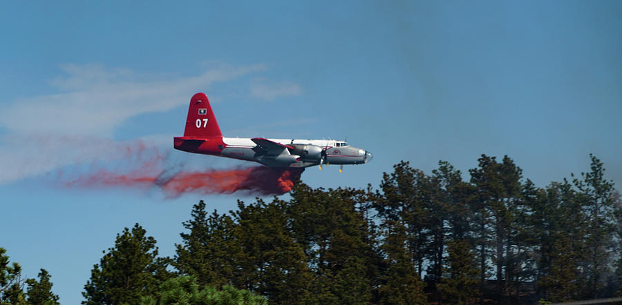 P2v Photograph - P2v Red Canyon Fire by Bill Gabbert