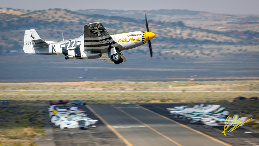 P51 Mustang Little Horse Gear Coming Up Friday at Reno Air Races 16x9 Aspect Signature Edition by John King