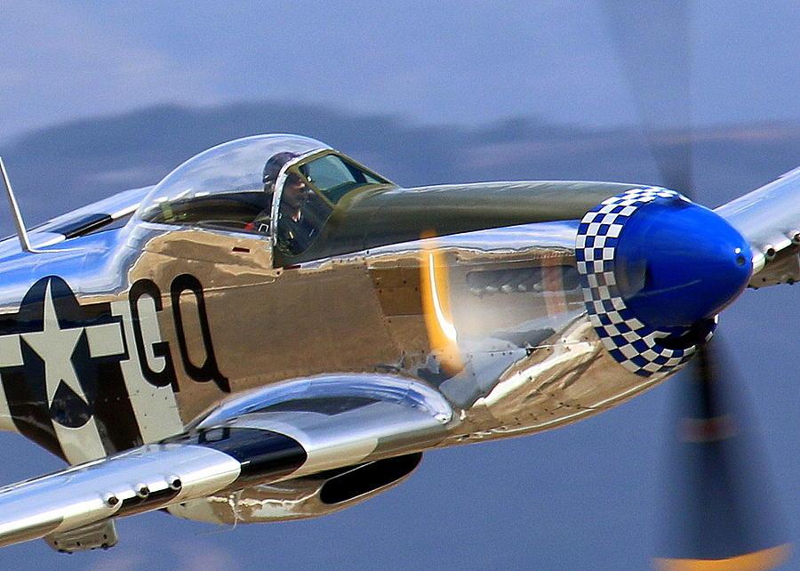 P51 Photograph - P51d Mustang At Salinas by John King