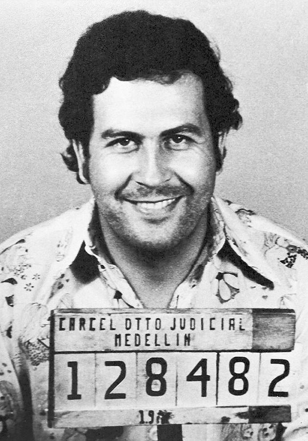 Pablo Photograph - Pablo Escobar Mugshot by Bill Cannon