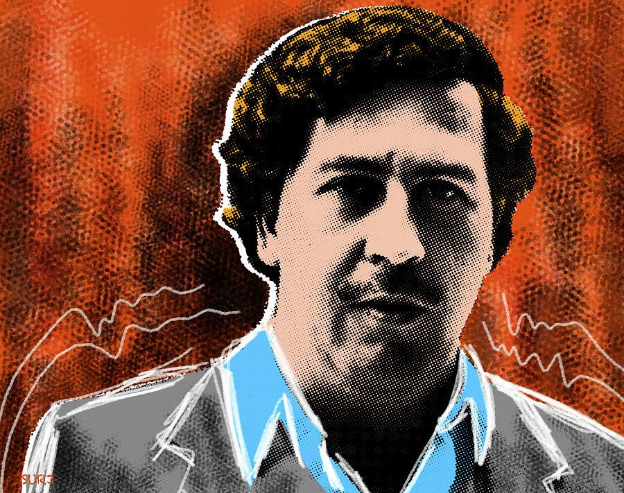 Pablo Escobar Mixed Media - Pablo Escobar  by Surj LA