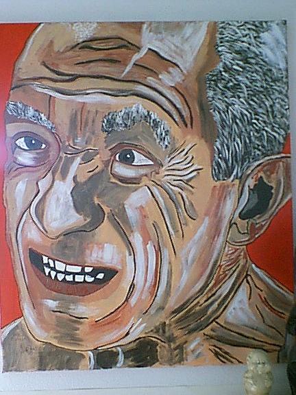 Portret Painting - pablo Picasso by Jeffrey Foti