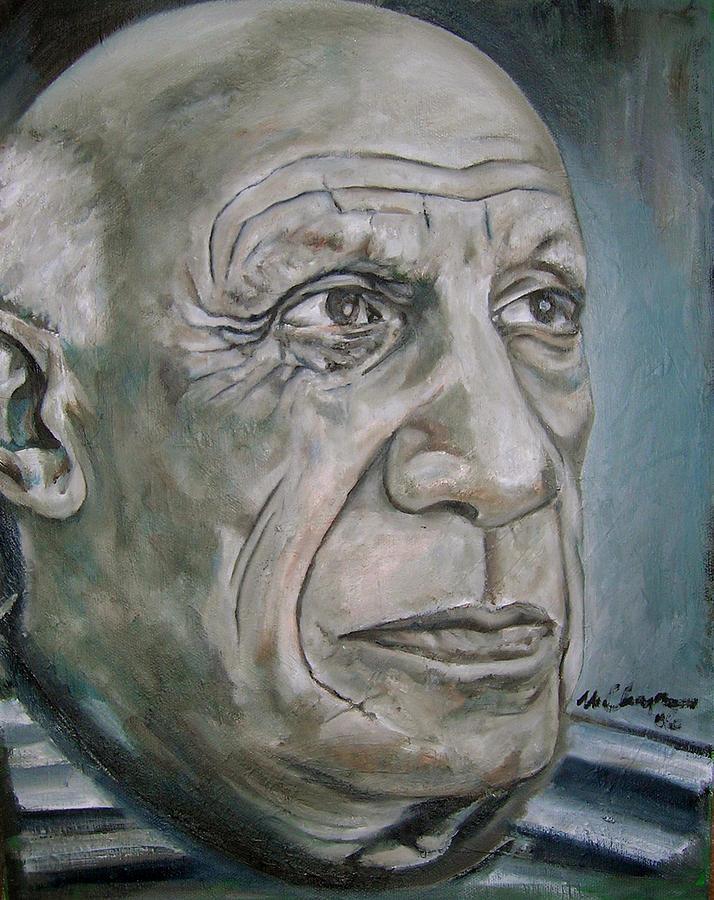 Pablo Picasso Portrait Painting - Pablo Picasso by Martel Chapman