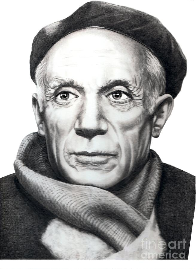 Pablo Picasso Drawing by Murphy Elliott