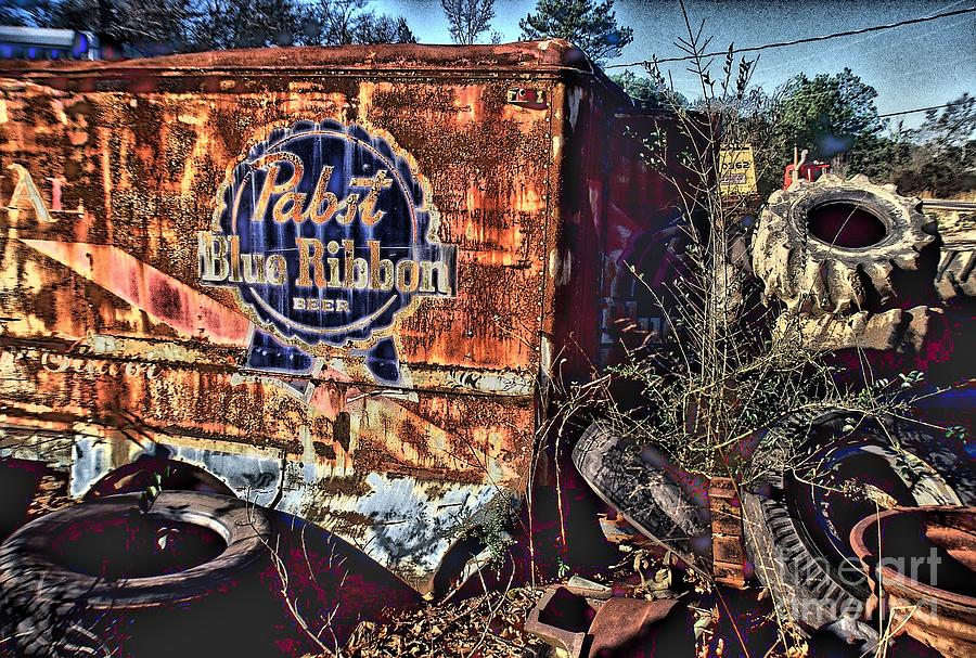 Commercial Photography Atlanta Photograph - Pabst Blue Ribbon Delievery Truck by Corky Willis Atlanta Photography