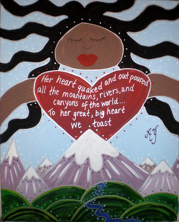 Holy Painting - Pachamama by Angela Yarber