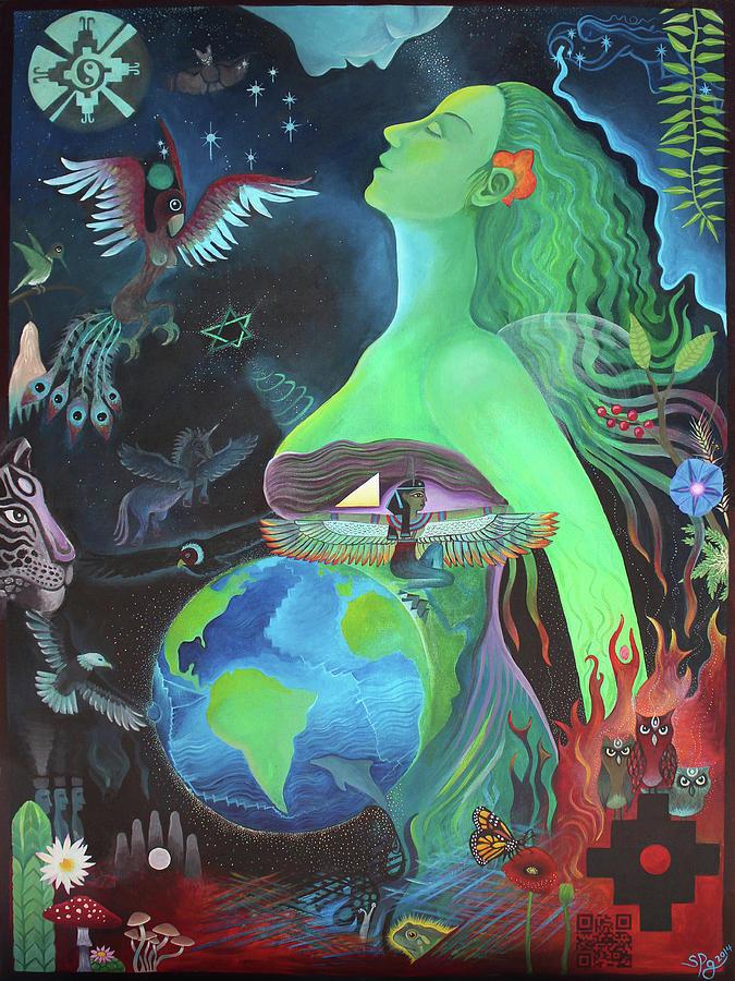 Pachamama Painting - Pachamama by Sarah Grubb