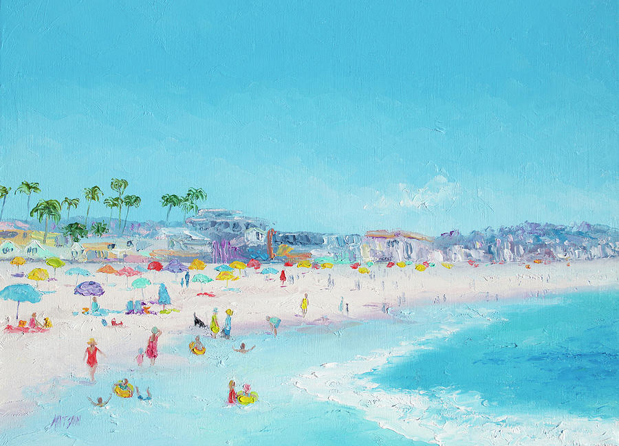 Pacific Beach In San Diego Painting By Jan Matson