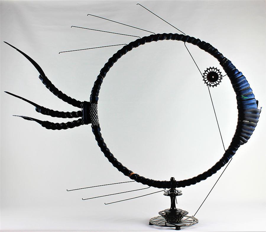 Fish Sculpture - Pacific Blue by Michael Ediza