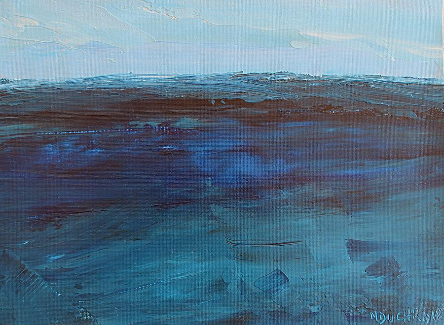 Ocean Painting - Pacific Blue by Norma Duch
