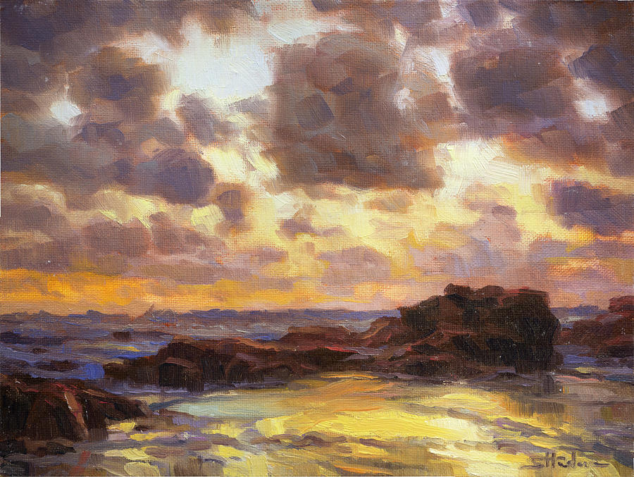 Coast Painting - Pacific Clouds by Steve Henderson