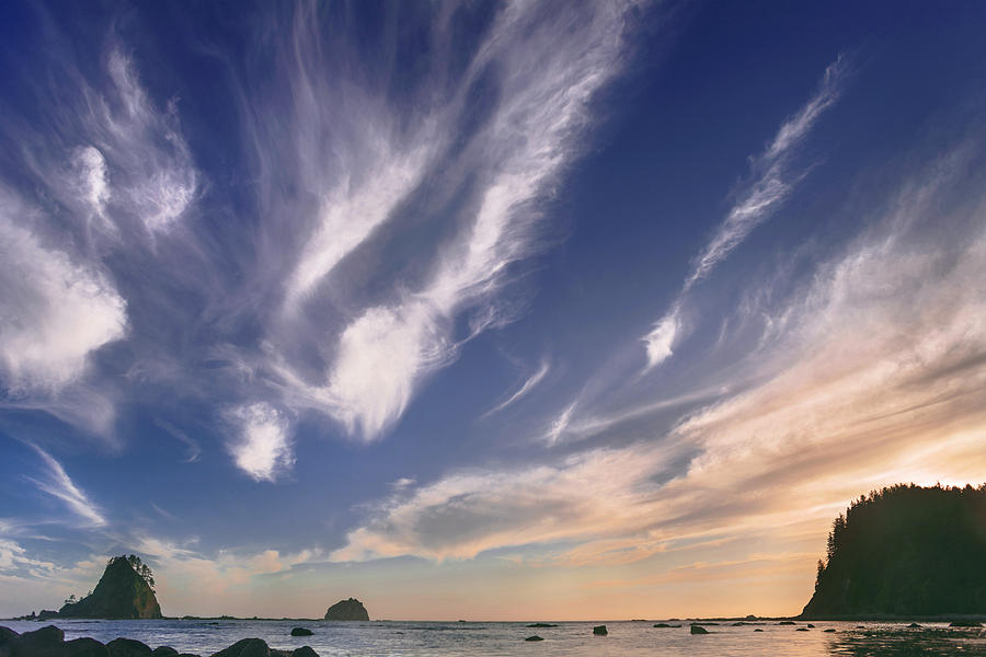 Olympic National Park Photograph - Pacific Coast Evening Sky by Geoffrey Ferguson