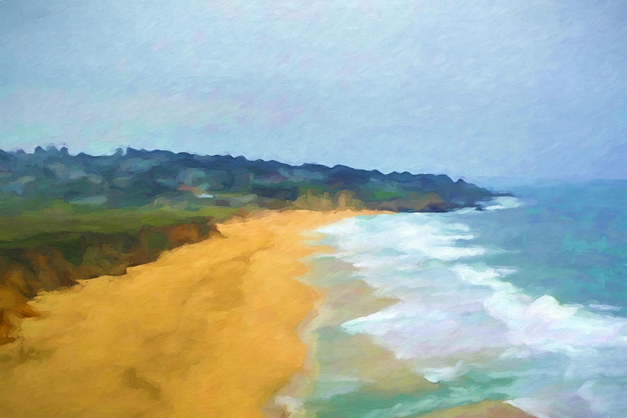 Pacific Coast Painting by Impressionist Art
