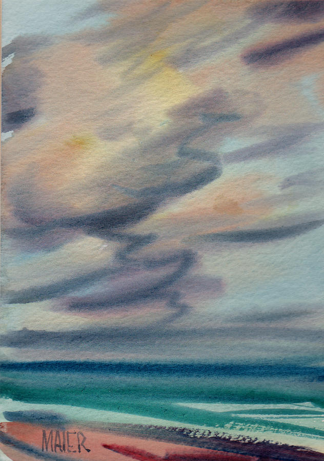 Seascape Painting - Pacific Evening by Donald Maier
