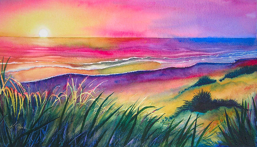 Pacific Painting - Pacific Evening by Karen Stark