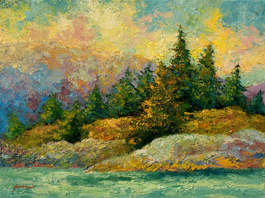 Alaska Painting - Pacific Island by Marion Rose