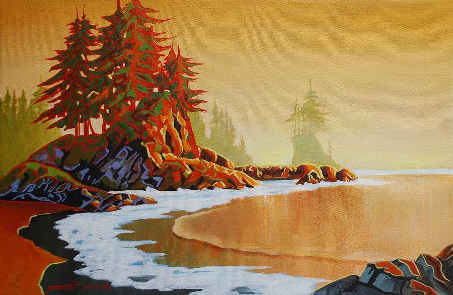 Seascape Painting - Pacific Mist by Santo De Vita