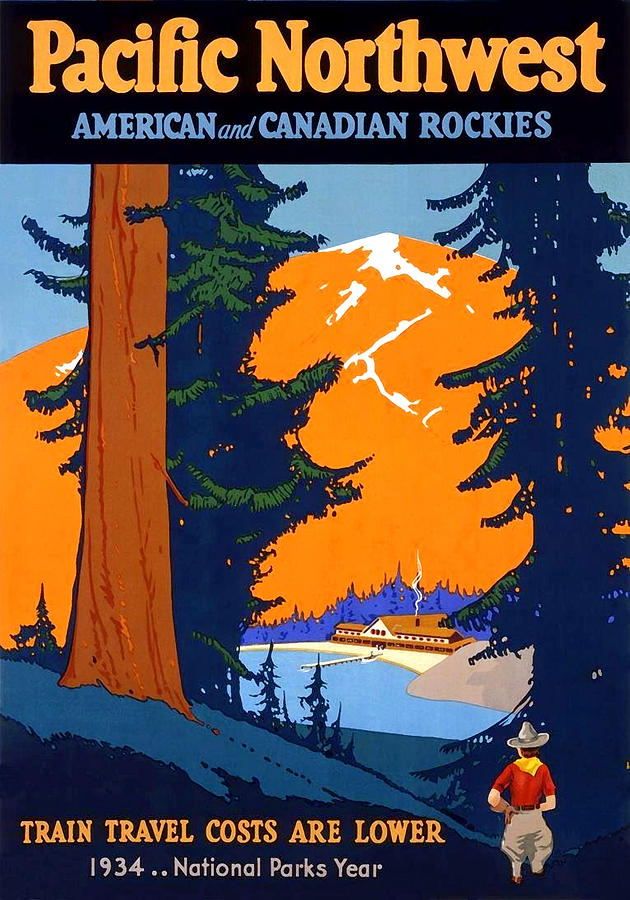 Pacific Northwest Painting - Pacific Northwest, American And Canadian Rockies, National Park by Long Shot