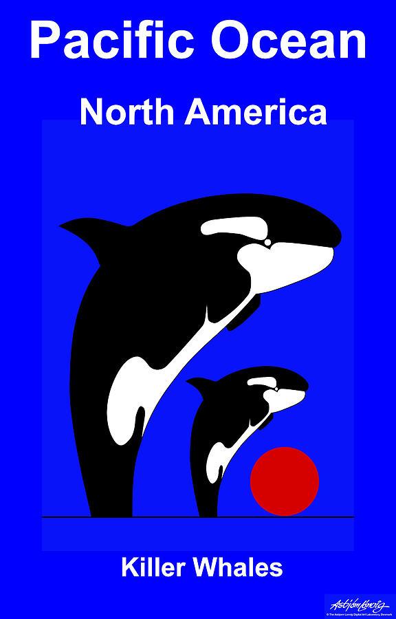 Pacific Ocean - North America Digital Art by Asbjorn Lonvig