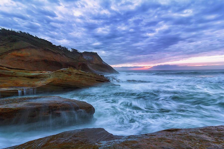 Rock Photograph - Pacific Ocean at Cape Kiwanda in Oregon by David Gn