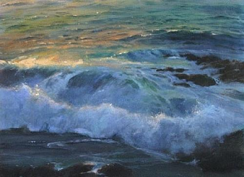 Pacific Ocean At Sunset Painting by Gil Dellinger
