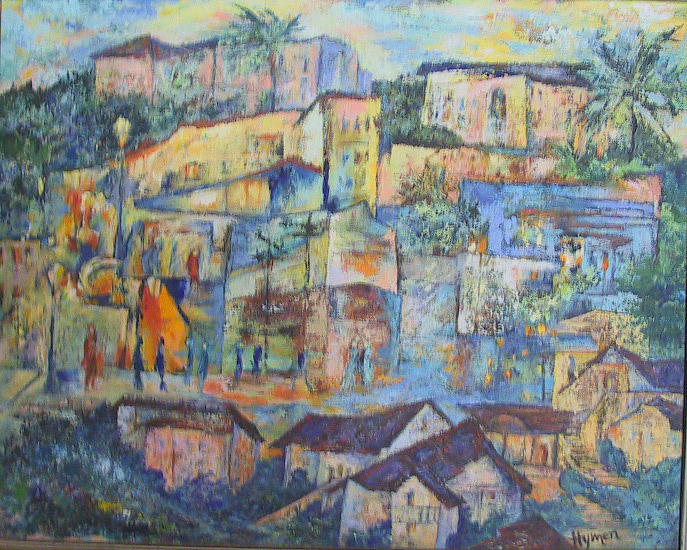 Houses Painting - Pacific Palisades by Lily Hymen
